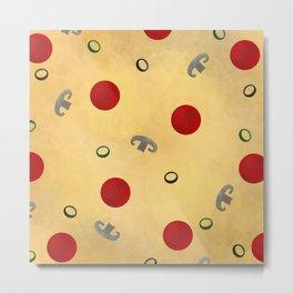 Pizza Metal Print