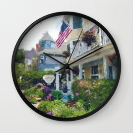 Cottage Inn on Mackinac Island Wall Clock