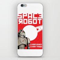 soviet iPhone & iPod Skins featuring Retro Soviet minimalism spacerobot   by Cardula