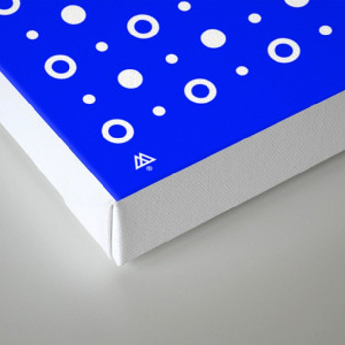 Dots / Blue Canvas Print