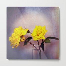 Still Life - Yellow Roses Metal Print
