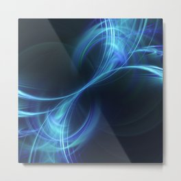 Blue Pulsar Metal Print