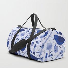 Birds in Winter Duffle Bag