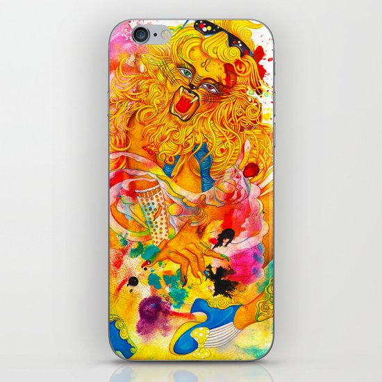 Leo: The Proud Lion (July 23 - August 22) / Gouache Original A4 Horoscope Illustration / Painting iPhone & iPod Skin