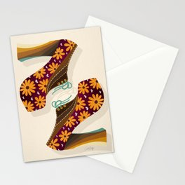 Disco Platforms – Fuchsia & Orange Stationery Cards