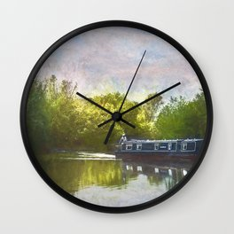 On The Avon A Digital Painting Wall Clock