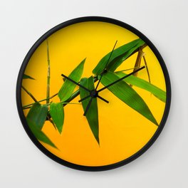Bamboo Leaves Wall Clock