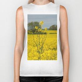 Blooming in yellow 9 Biker Tank