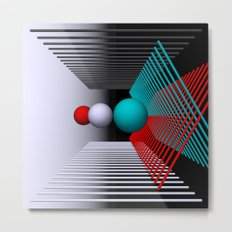 experiments on geometry -3- Metal Print