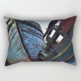 Blue Boats Rectangular Pillow