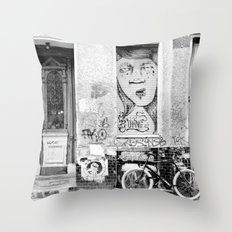 B&W STREETART BERLIN by Jay Hops Throw Pillow