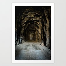 Snow Shred Tunnel Art Print