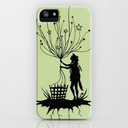 She Spins The Stars iPhone Case