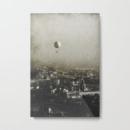 Flying Over Metal Print