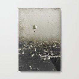 Flying Over Metal Print