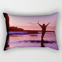 Pacific Epic Sunset: Happy, Joyful & Free! Rectangular Pillow