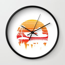 Baycation - Boating Design Wall Clock