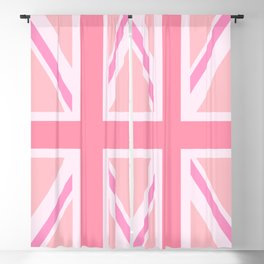 Pink Union Jack/Flag Design Blackout Curtain