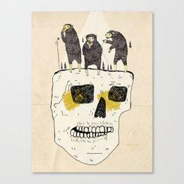 Bears On a Skull Canvas Print
