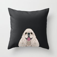 Harper - Cocker Spaniel phone case gifts for dog people dog lovers presents Throw Pillow