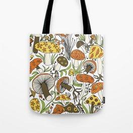 Hand-drawn Mushrooms Tote Bag