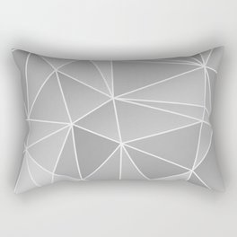 Geo Pattern (Silver Sand and White) Rectangular Pillow
