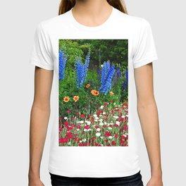 Blue Delphinium Summer Flowers T-shirt