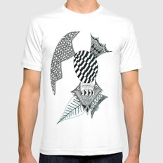 Fish Egg Creature MEDIUM White Mens Fitted Tee