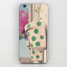 Nature and polka dots iPhone Skin