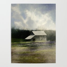 Barn in the mist Poster