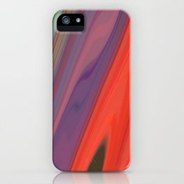 Splashes of Color (purple, corals, and gold) iPhone Case