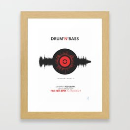 DRUM'N'BASS Framed Art Print