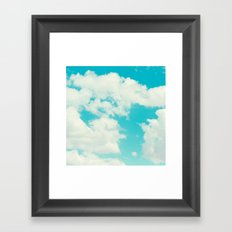 Perfect blue sky. Framed Art Print