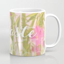 Namaste Buddha & Flowers Typography Collage Coffee Mug