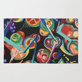 Colorful Abstract Fruit Rug