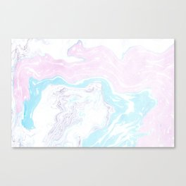 Colorful Waves Marbling Canvas Print