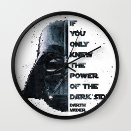 The Power of the Dark Side - Darth Vader Wall Clock