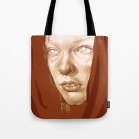 fifth element Tote Bags featuring The Fifth Element by Doruktan Turan