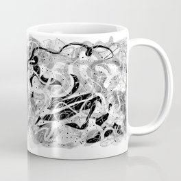 Zen Brush abstract expressionist calligraphic brushwork Coffee Mug