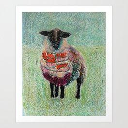 Orange Wool Art Print