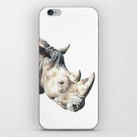 rhino iPhone & iPod Skins featuring RHINO by Anne Hviid Nicolaisen