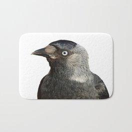 Jackdaw (Corvus monedula) Bird Portrait Vector Bath Mat