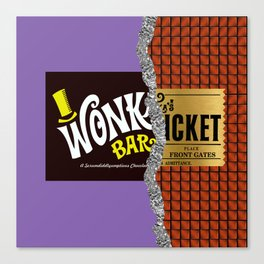Wonka's Golden Ticket Chocolate Canvas Print