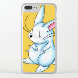 Pudgy Bunny Clear iPhone Case