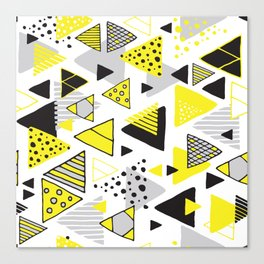Triangles, random triangles (on white) Canvas Print