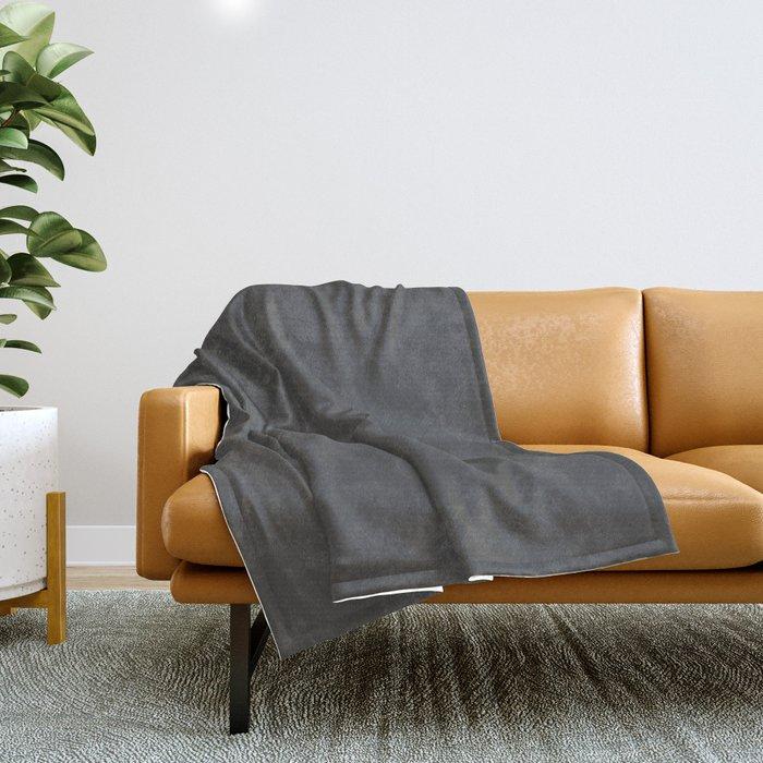 Simply Dark Gray Throw Blanket