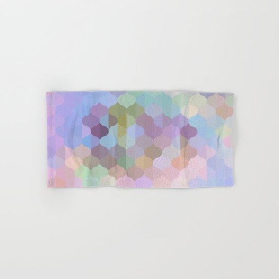 Pastel Geometric Abstract Hand & Bath Towel