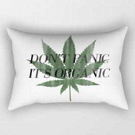 Don't Panic It's Organic Vintage Cannabis Print Rectangular Pillow
