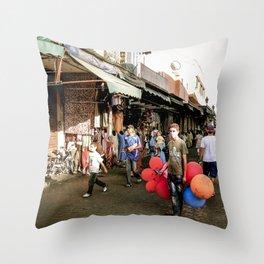 Boy and Balloons, Moroccco Souq Throw Pillow