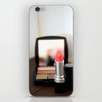 lipstick iPhone & iPod Skins featuring Lipstick by Tanya Thomas
